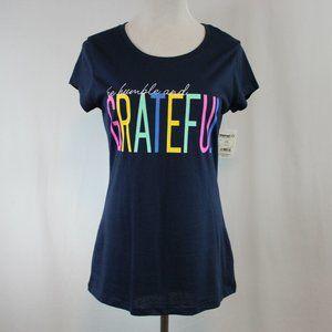 Wound Up Short Sleeve T Shirt Juniors Large BLue